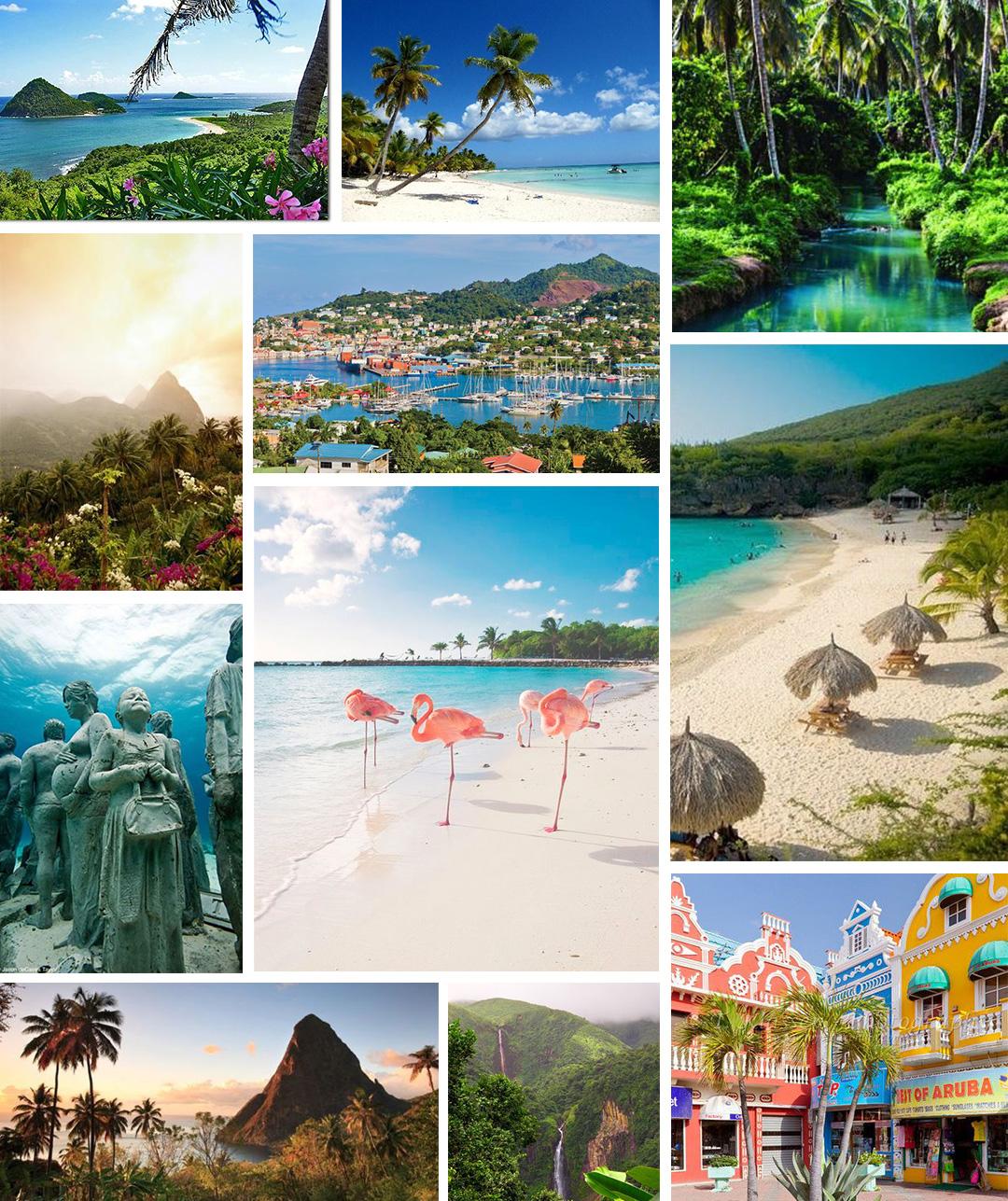 Karibik Collage Kreuzfahrt TUI Mein Schiff Impressionen