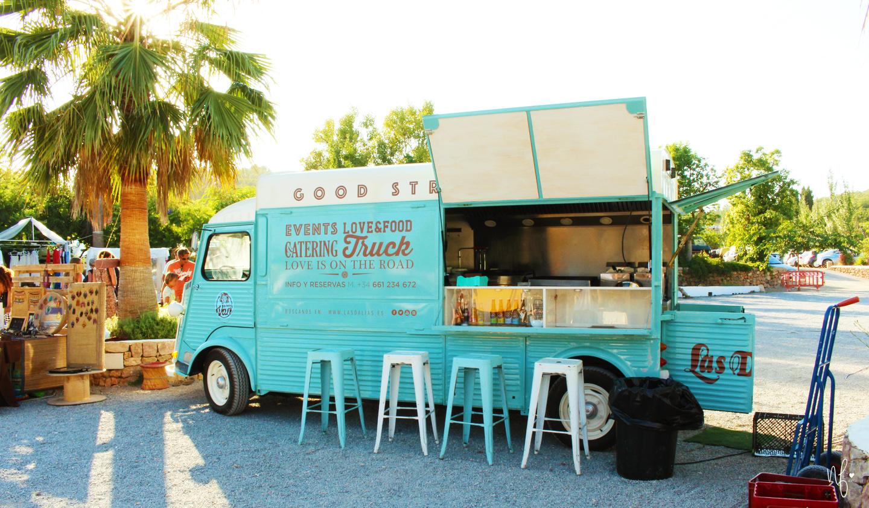Hippiemarkt Las Dalias Ibiza Imbisswagen