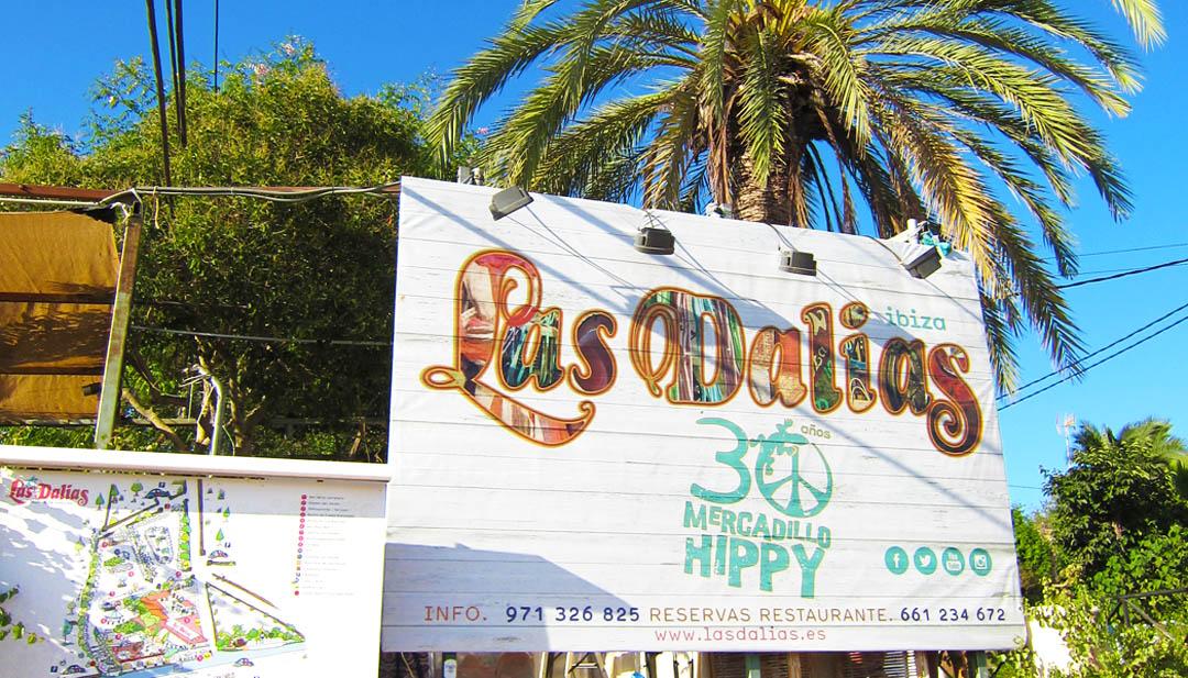 Eingang Schild Las Dalias Hippiemarkt