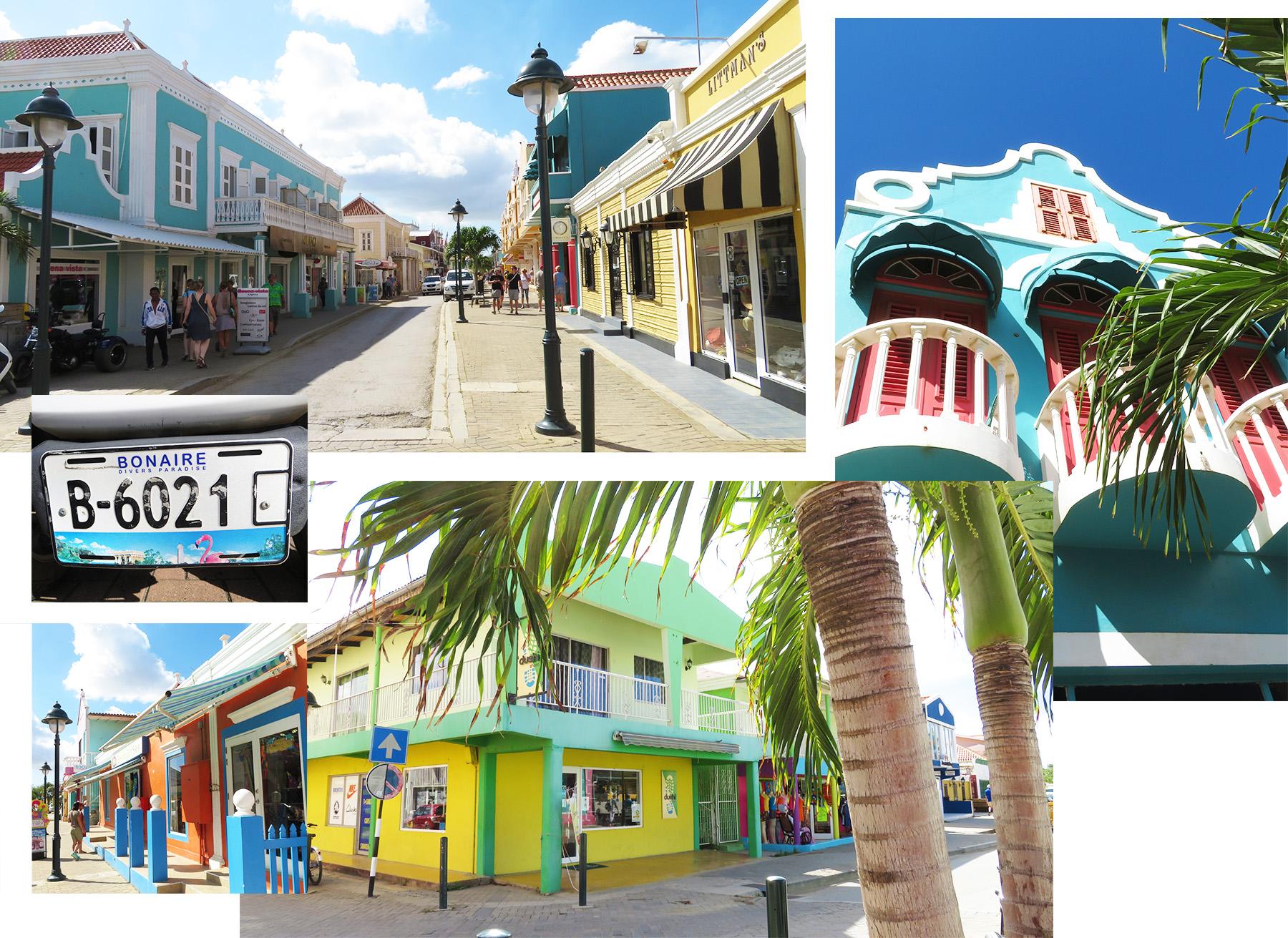 Karibik Kreuzfahrt Bonaire Kralendijk Stadt Häuser