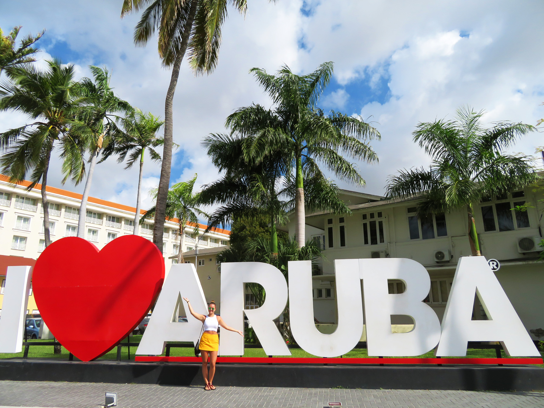 Karibik Kreuzfahrt I love Aruba Sign