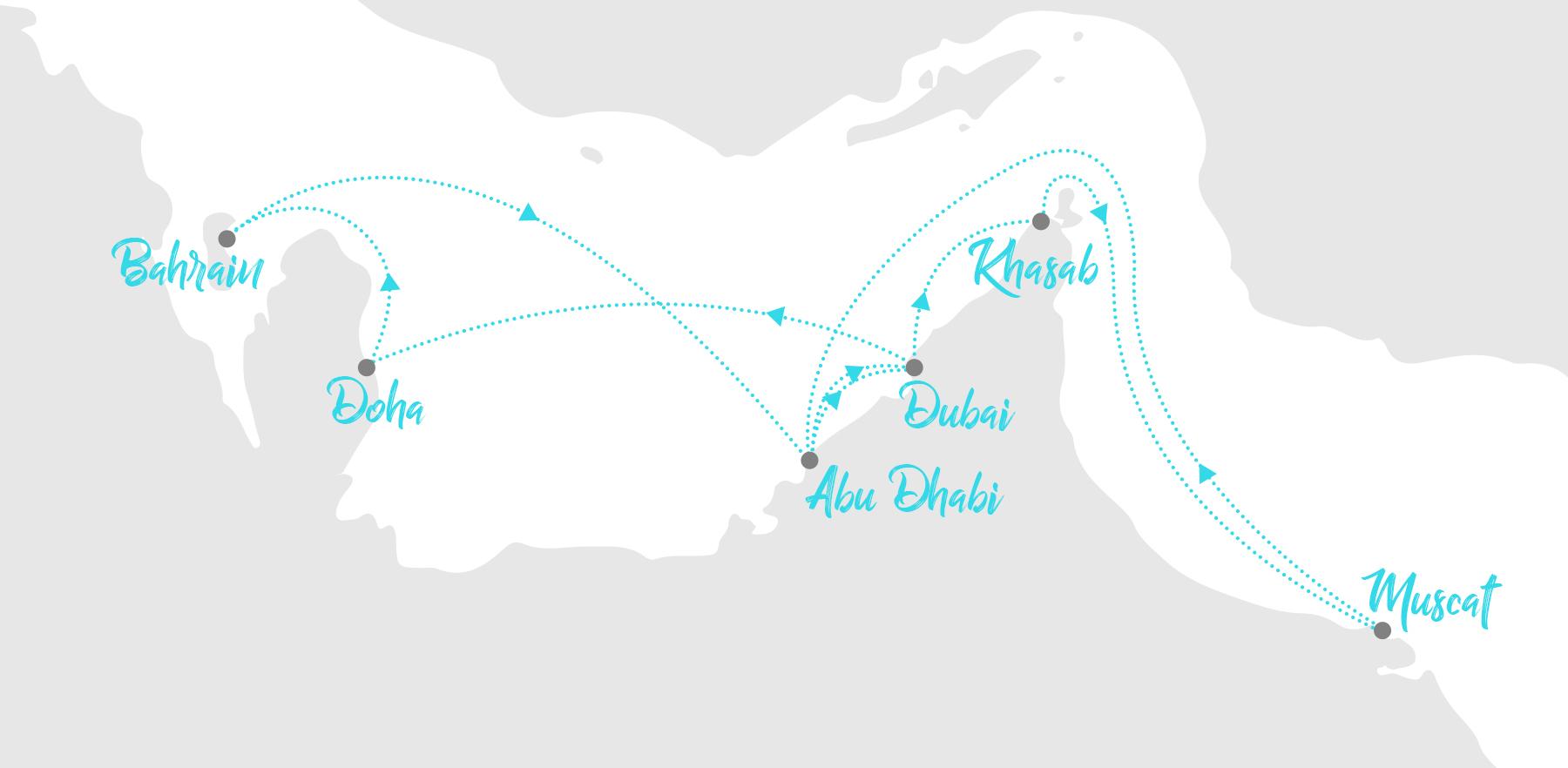 Kreuzfahrt Route Orient