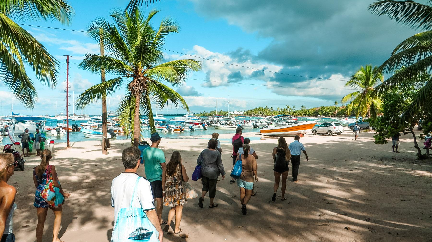 Dominikanische Republik Ausflug Boote
