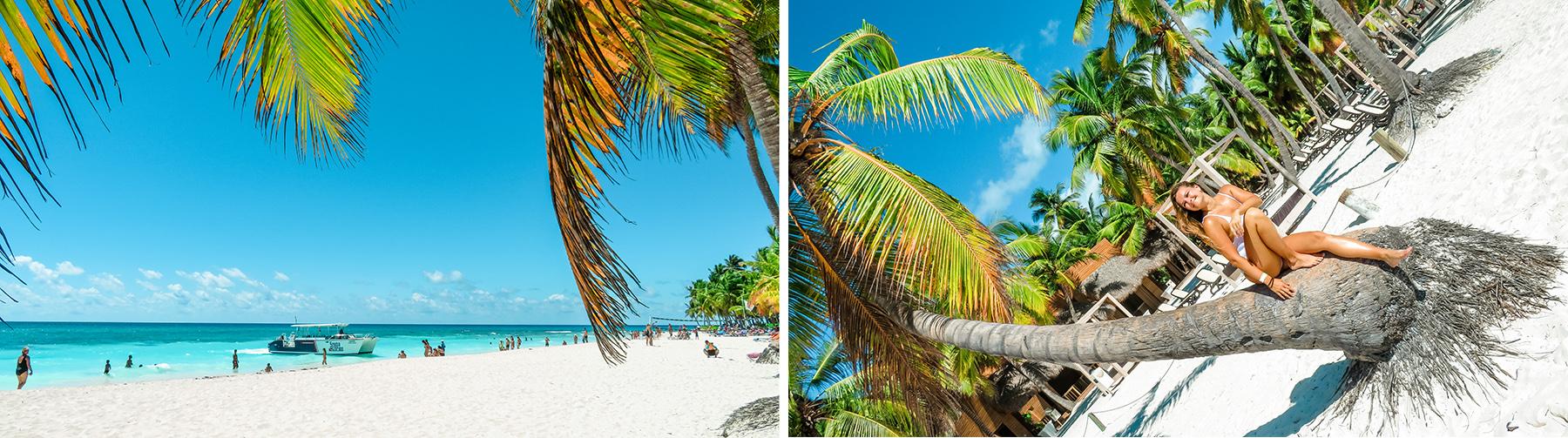 Dominikanische Republik Isla Saona Meer Palmen