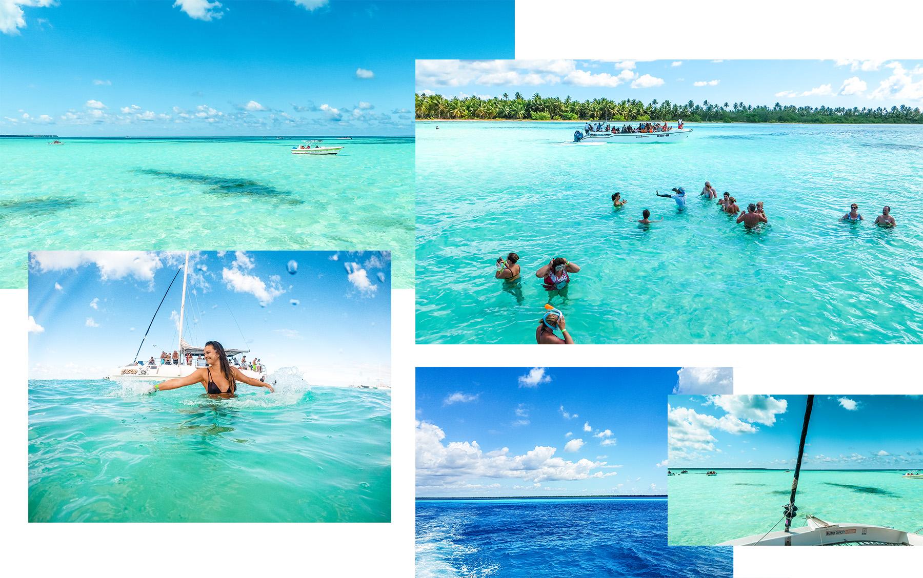Dominikanische Republik Isla Saona Pool Collage