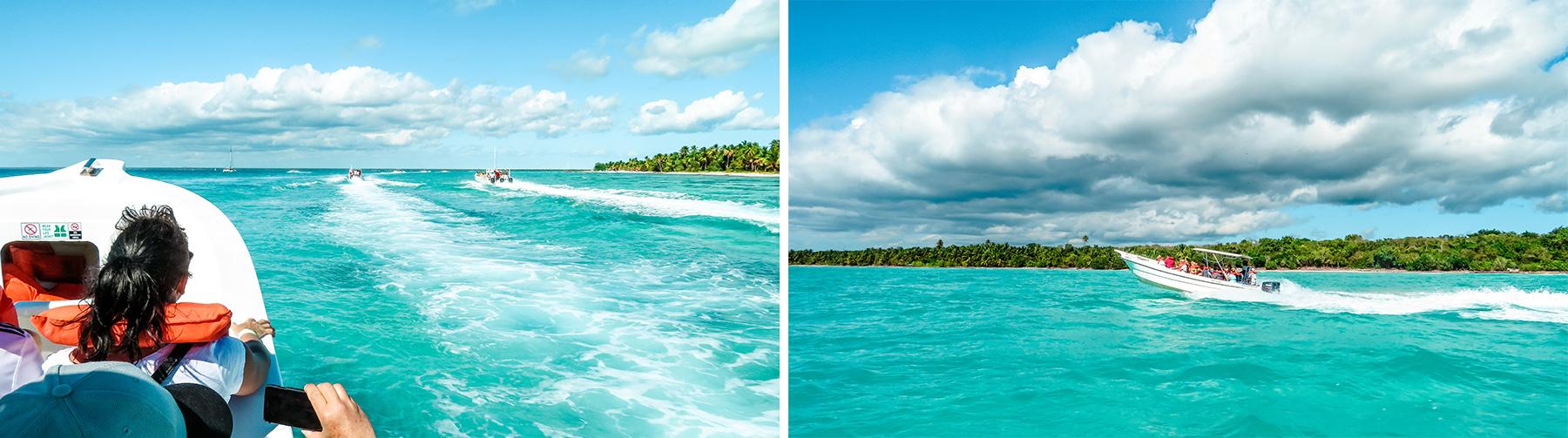 Dominikanische Republik Isla Saona Speedboot
