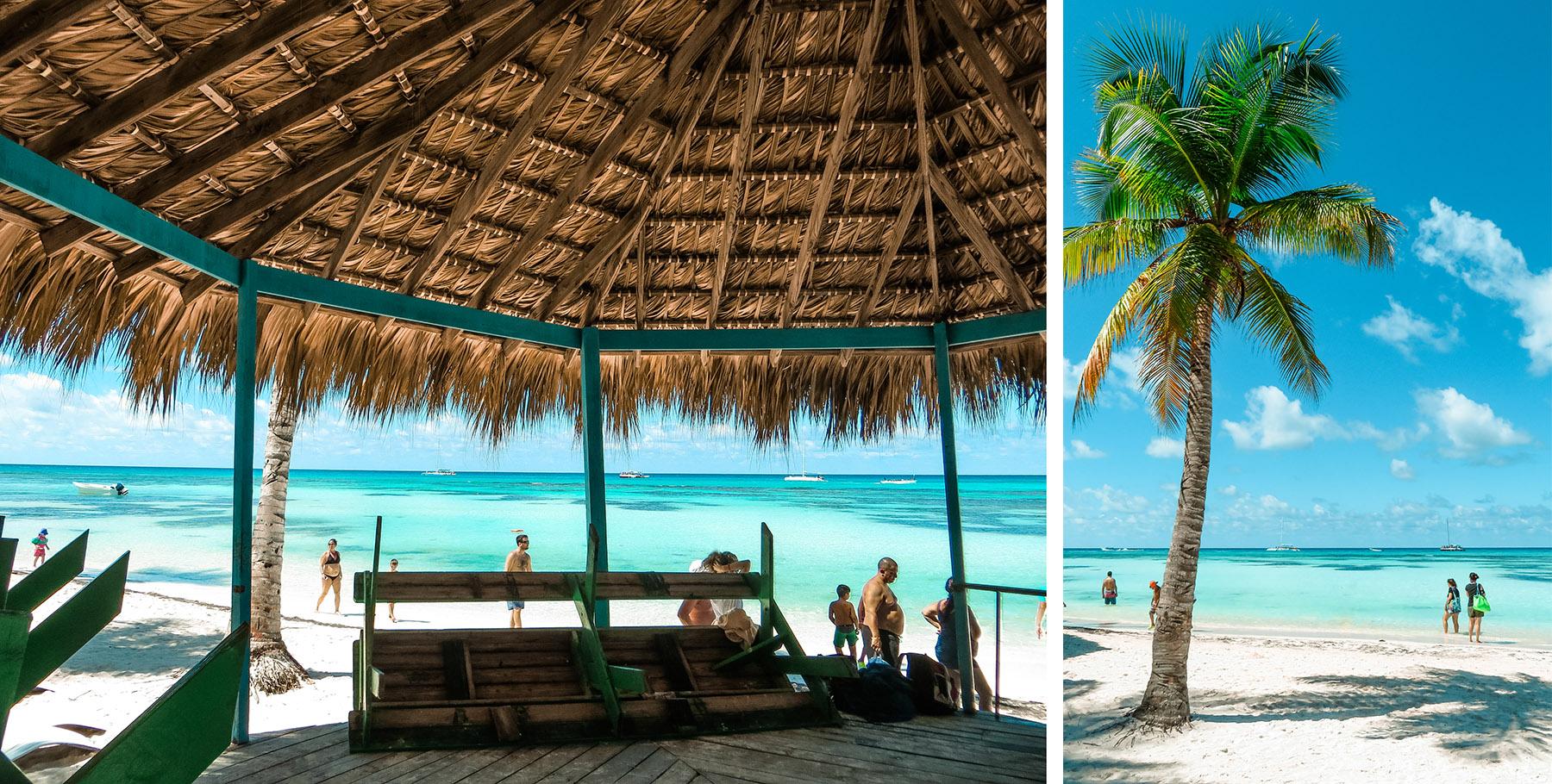 Dominikanische Republik Isla Saona Strand Ankunft