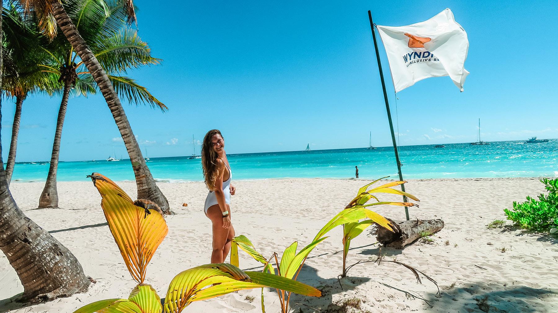 Dominikanische Republik Isla Saona Strand Onepiece
