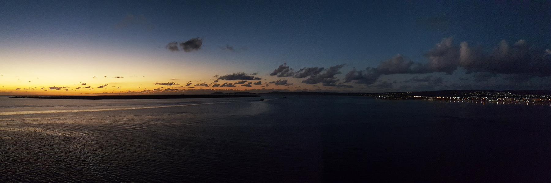 Kreuzfahrt Sonnenuntergang Meer