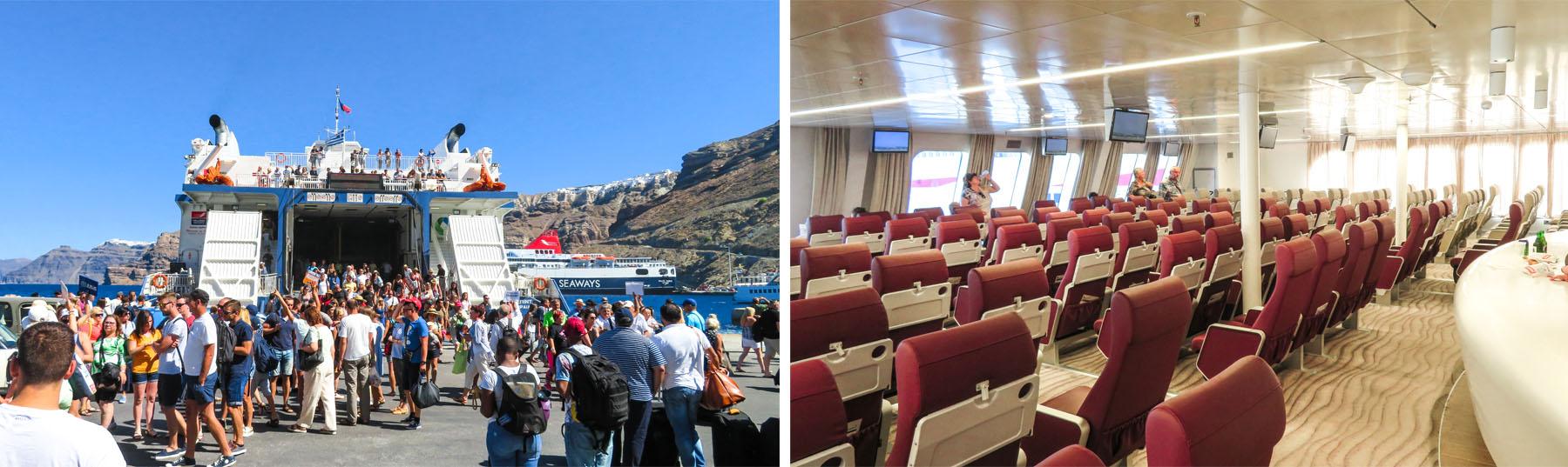Santorini Faehre Griechenland Hafen