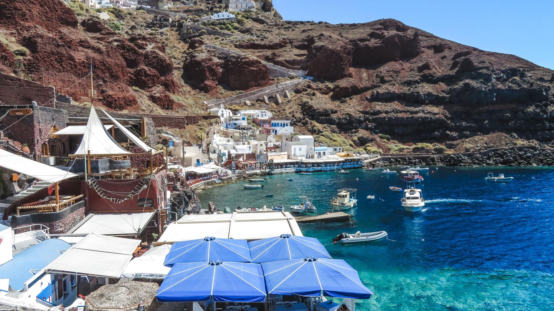 Santorini Oia Hafen