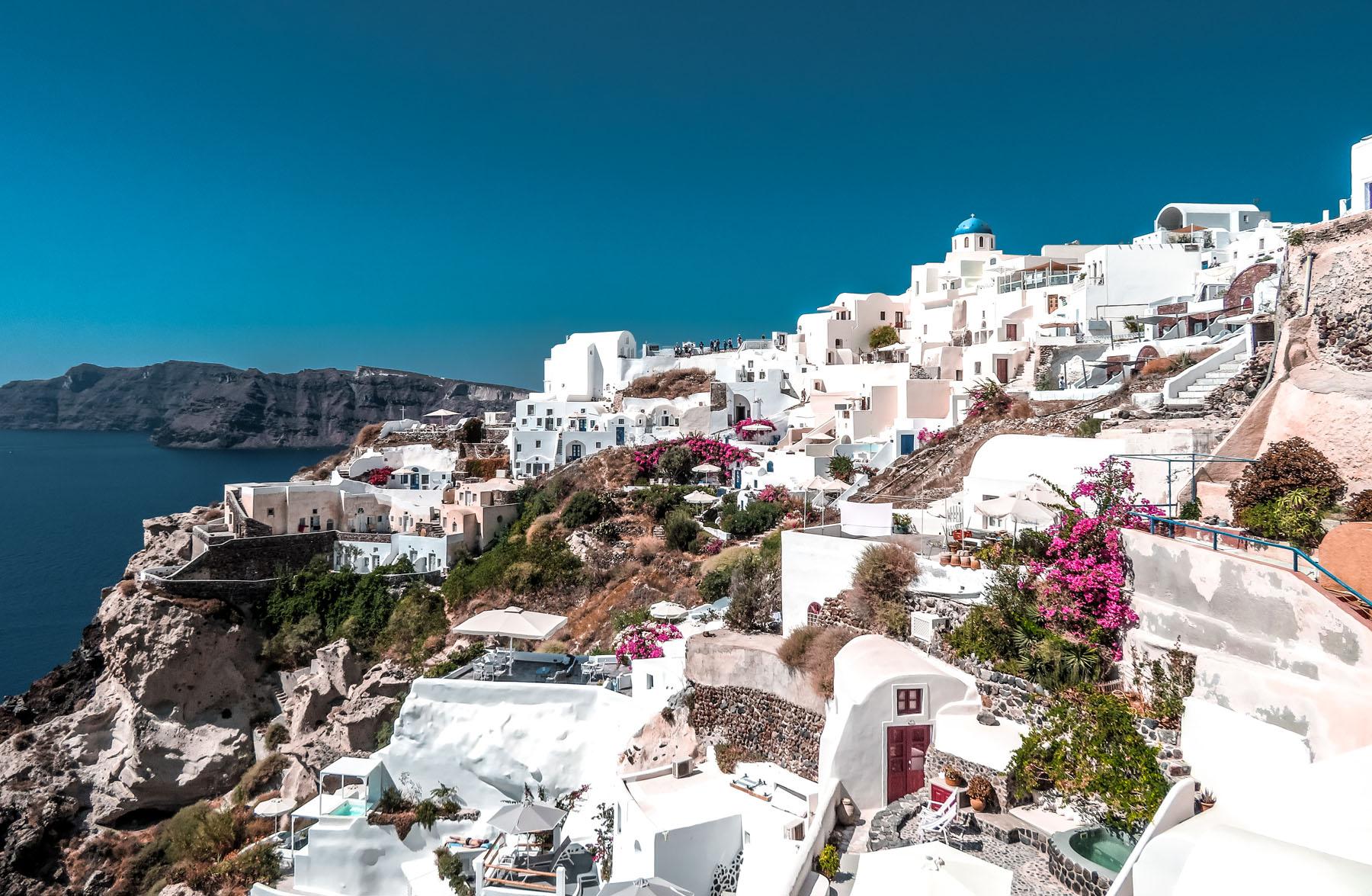 Santorini Oia Stadt