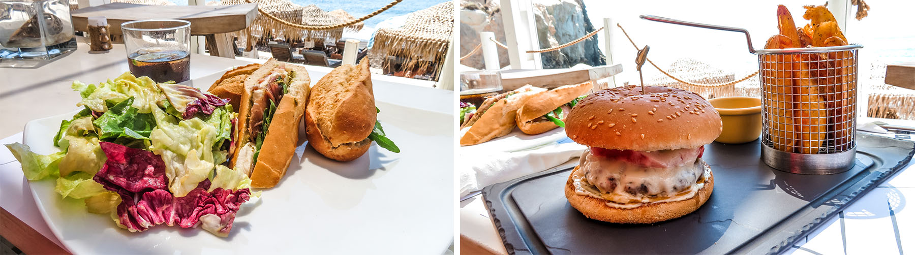 Akro Beach Club Food Black Beach Santorini