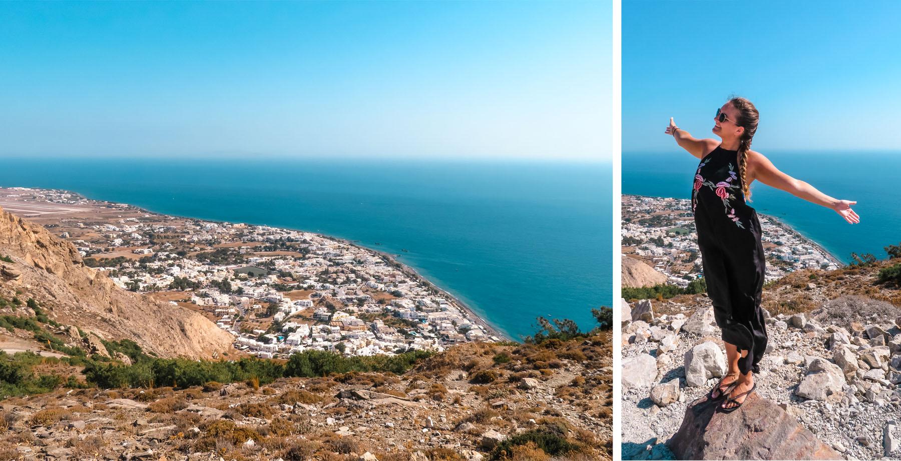 Aussicht Messa Vouno Santorini