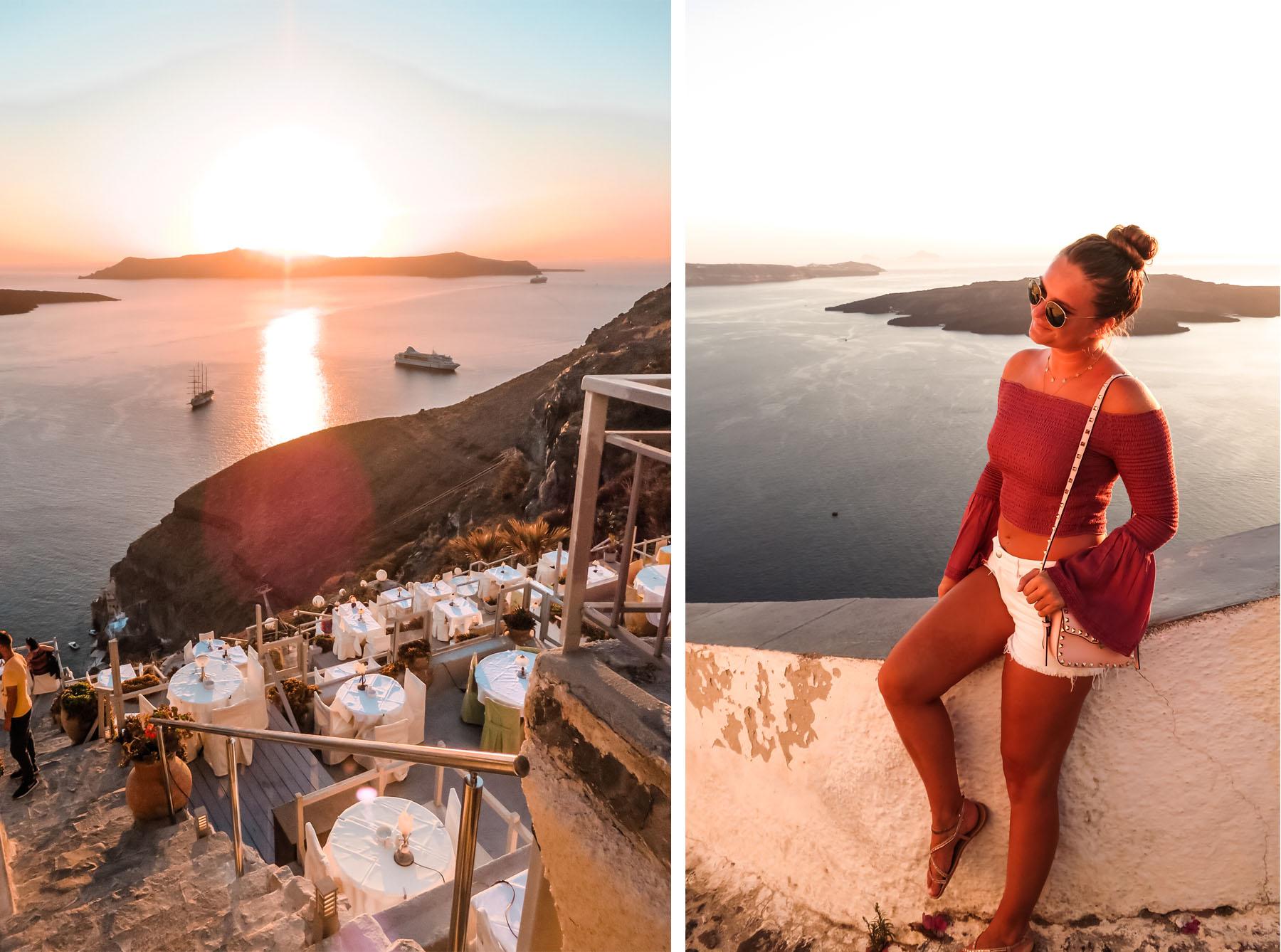 Fira Sonnenuntergang Santorini