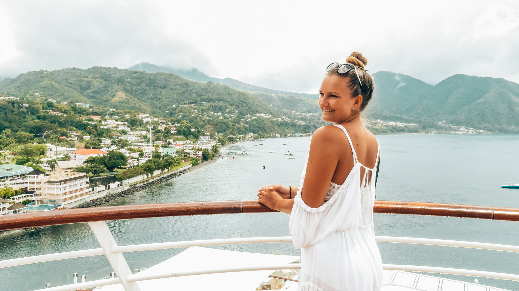 Dominica Karibik Kreuzfahrt Aussicht Schiff