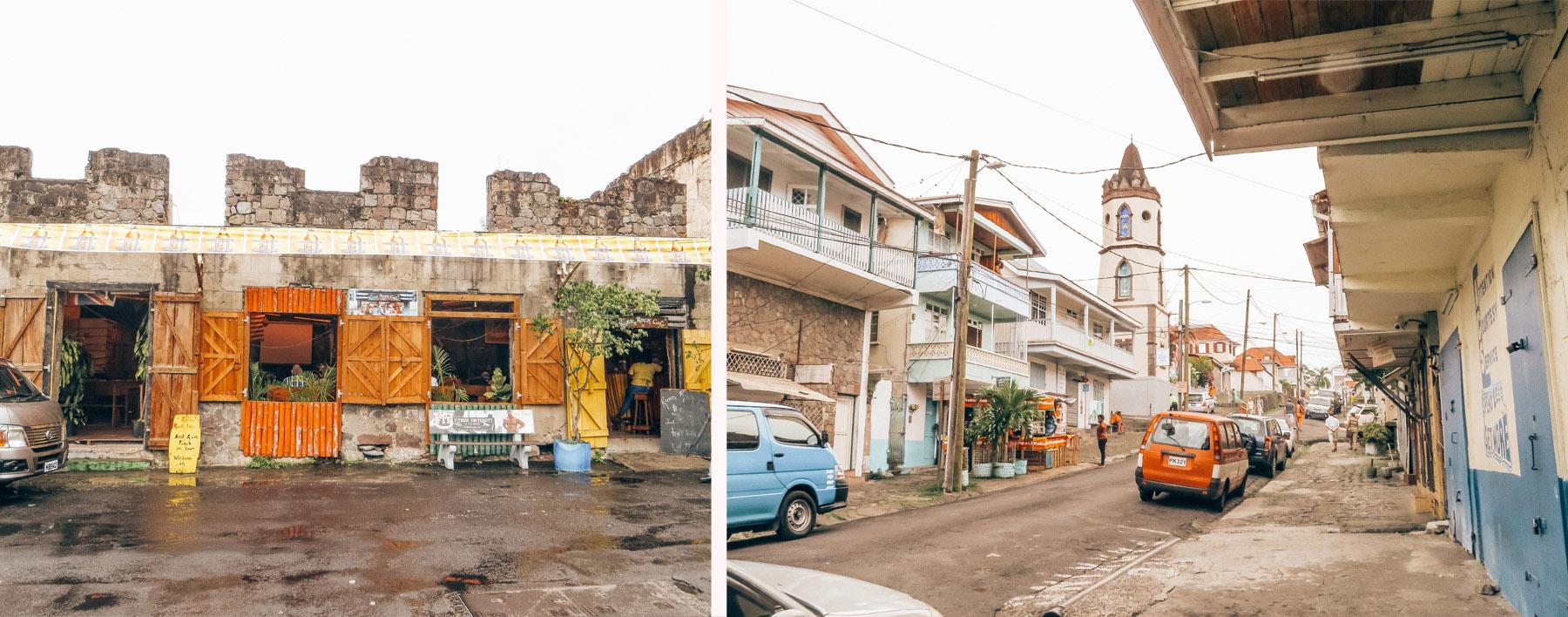 Karibik Kreuzfahrt Dominica Roseau Stadt