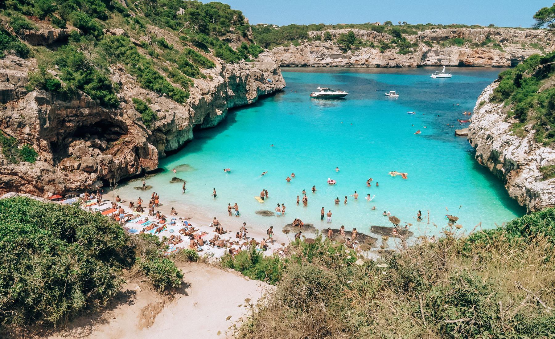 Mallorca Strand Calo des Moro Weg