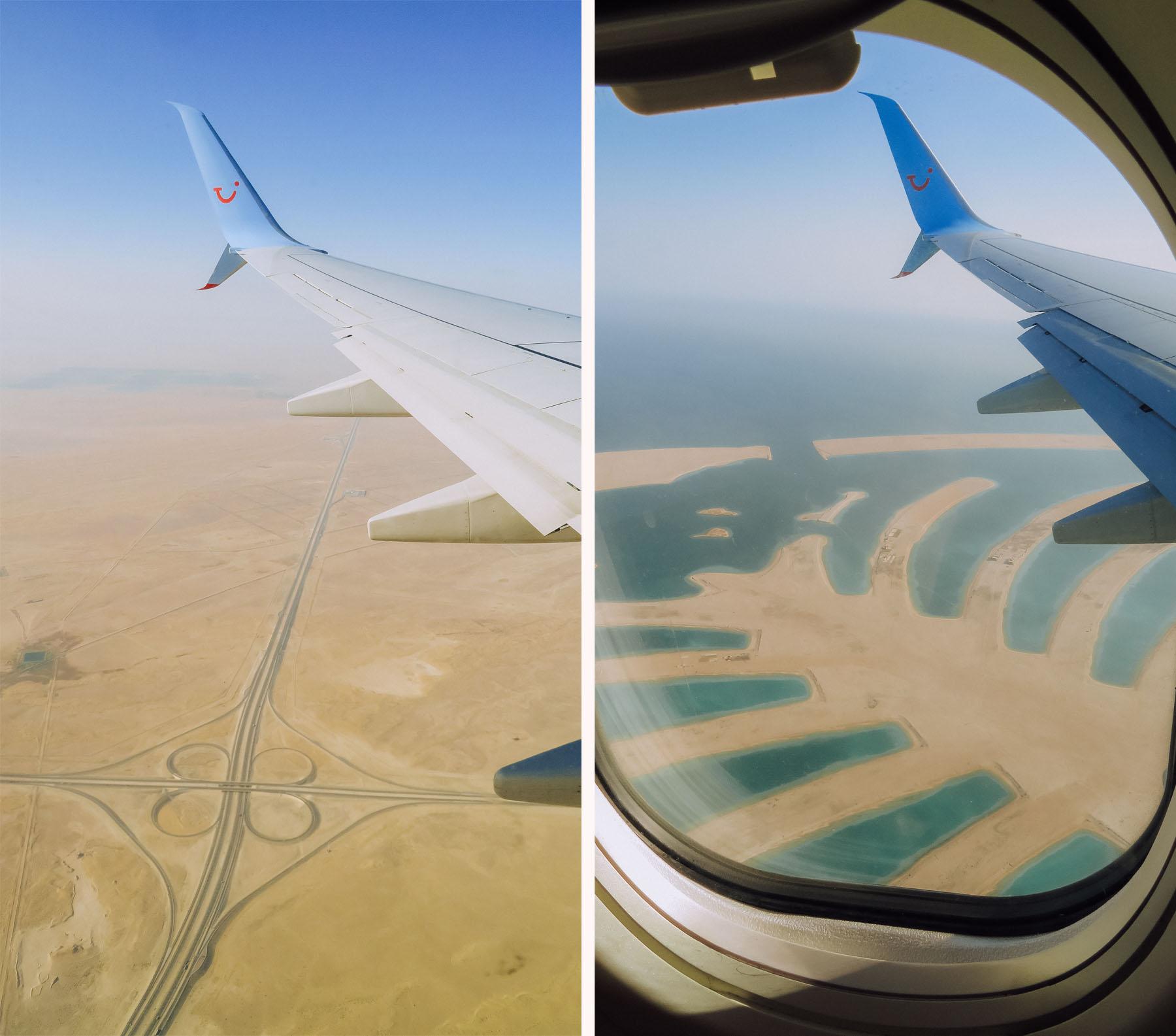 Orient Kreuzfahrt Anreise Dubai Aussicht Flugzeug