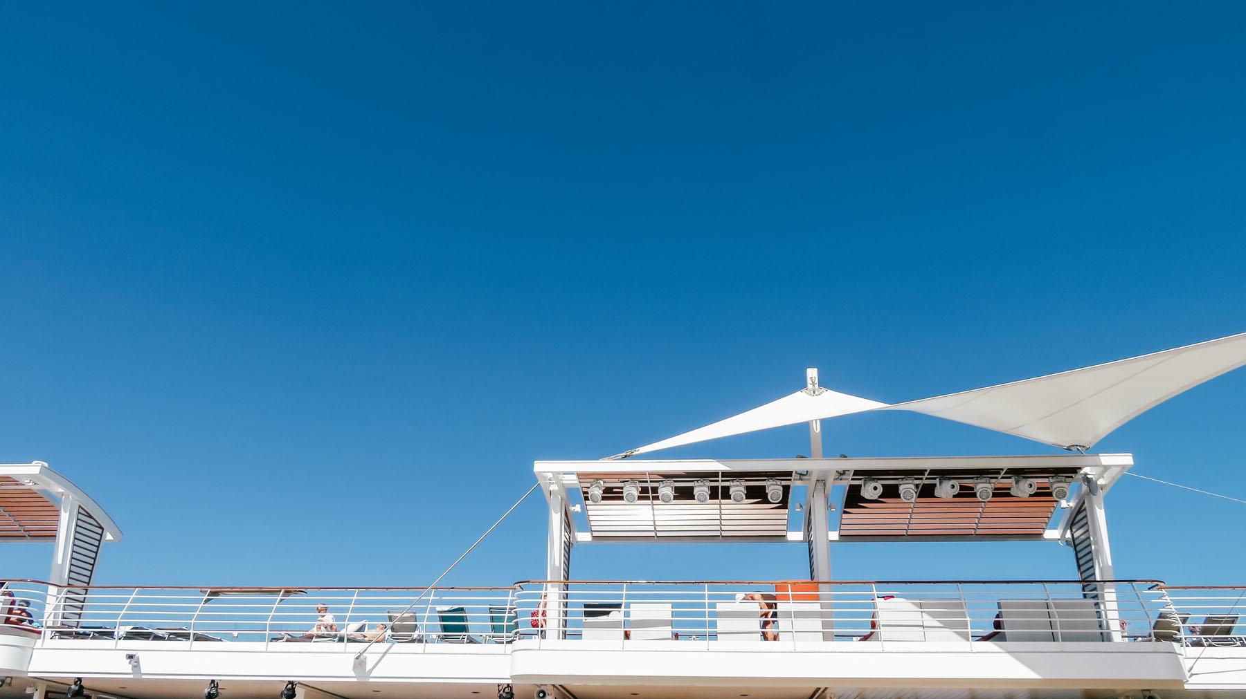 Orient Kreuzfahrt Anreise Sonnendeck