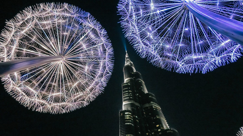 Orient Kreuzfahrt Burj Khalifa Lichter Nacht