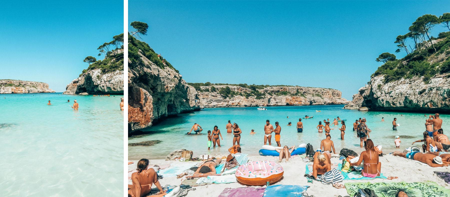 Mallorca Calo des Moro Wasser Strand