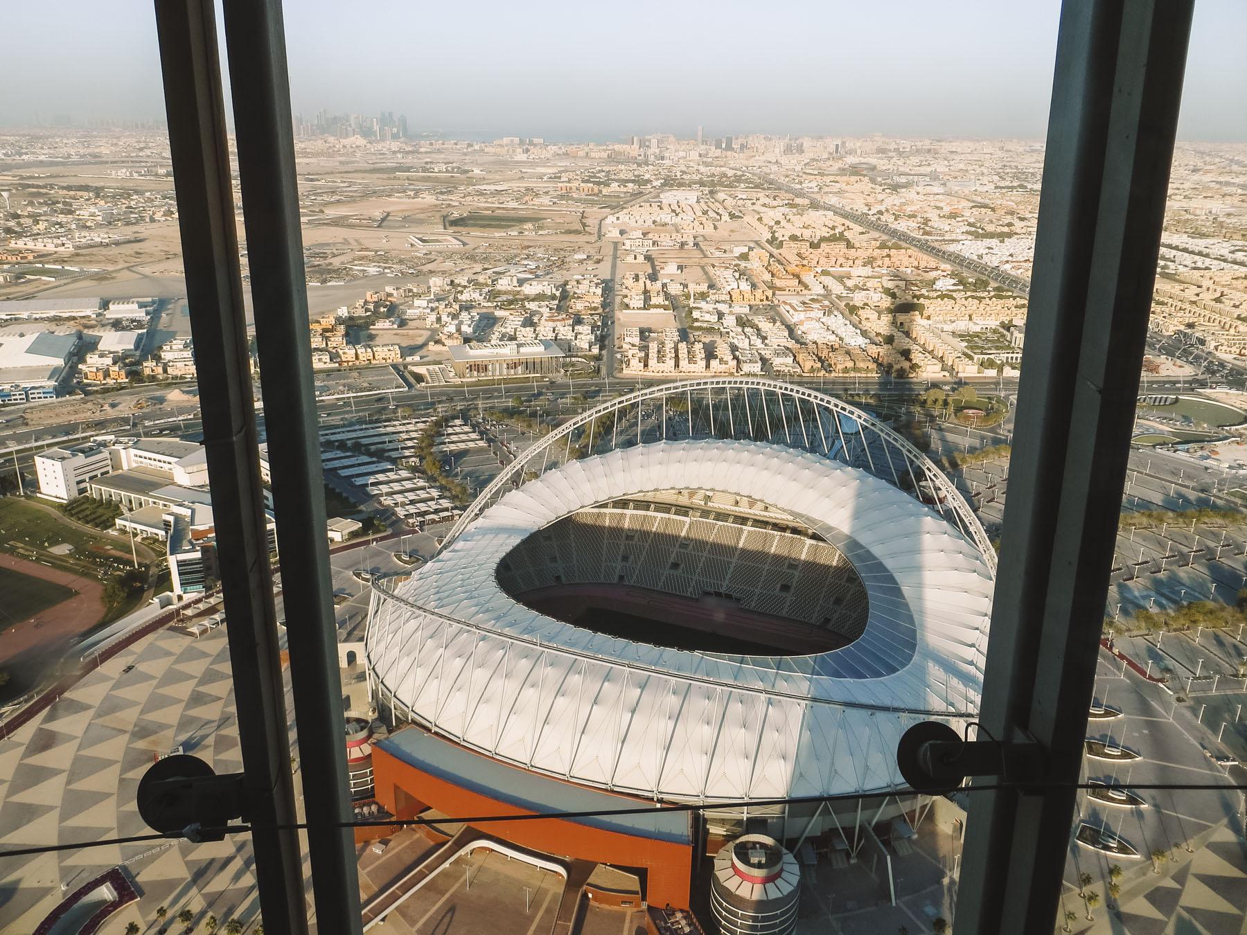 Orient Kreuzfahrt Doha Katar The Torch WM 2022 Stadion