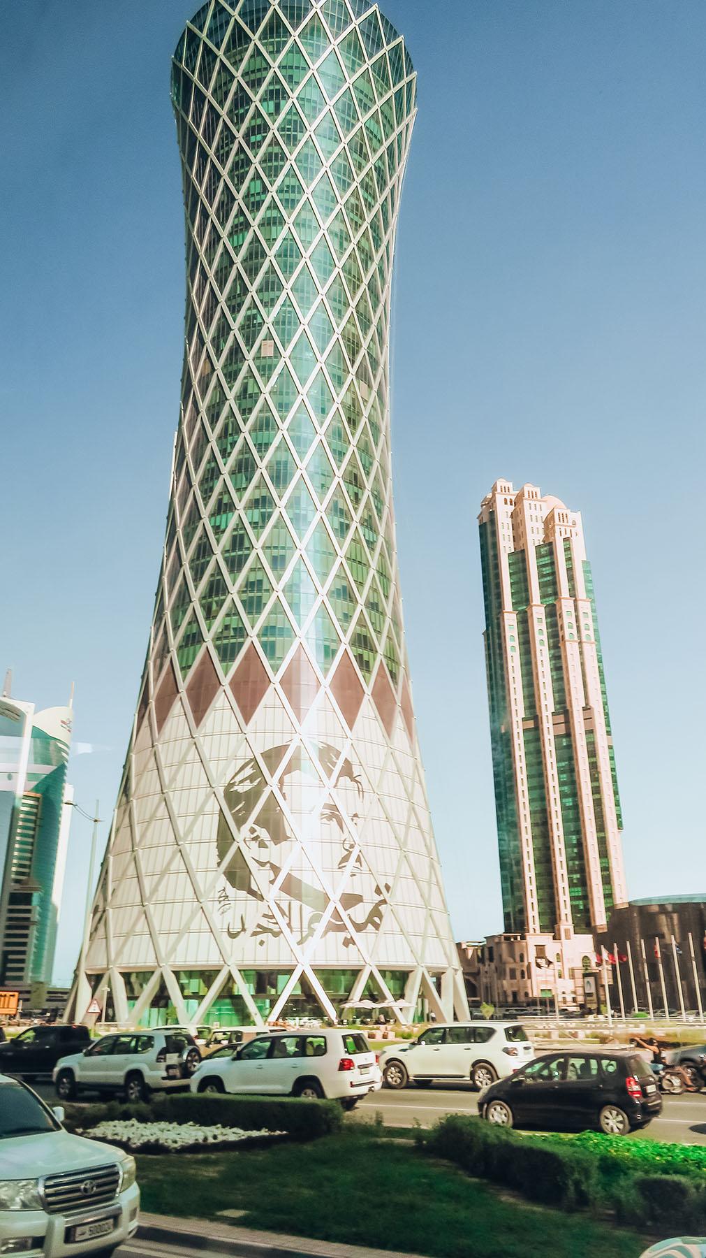 Orient Kreuzfahrt Doha Katar Westbay Gebäude