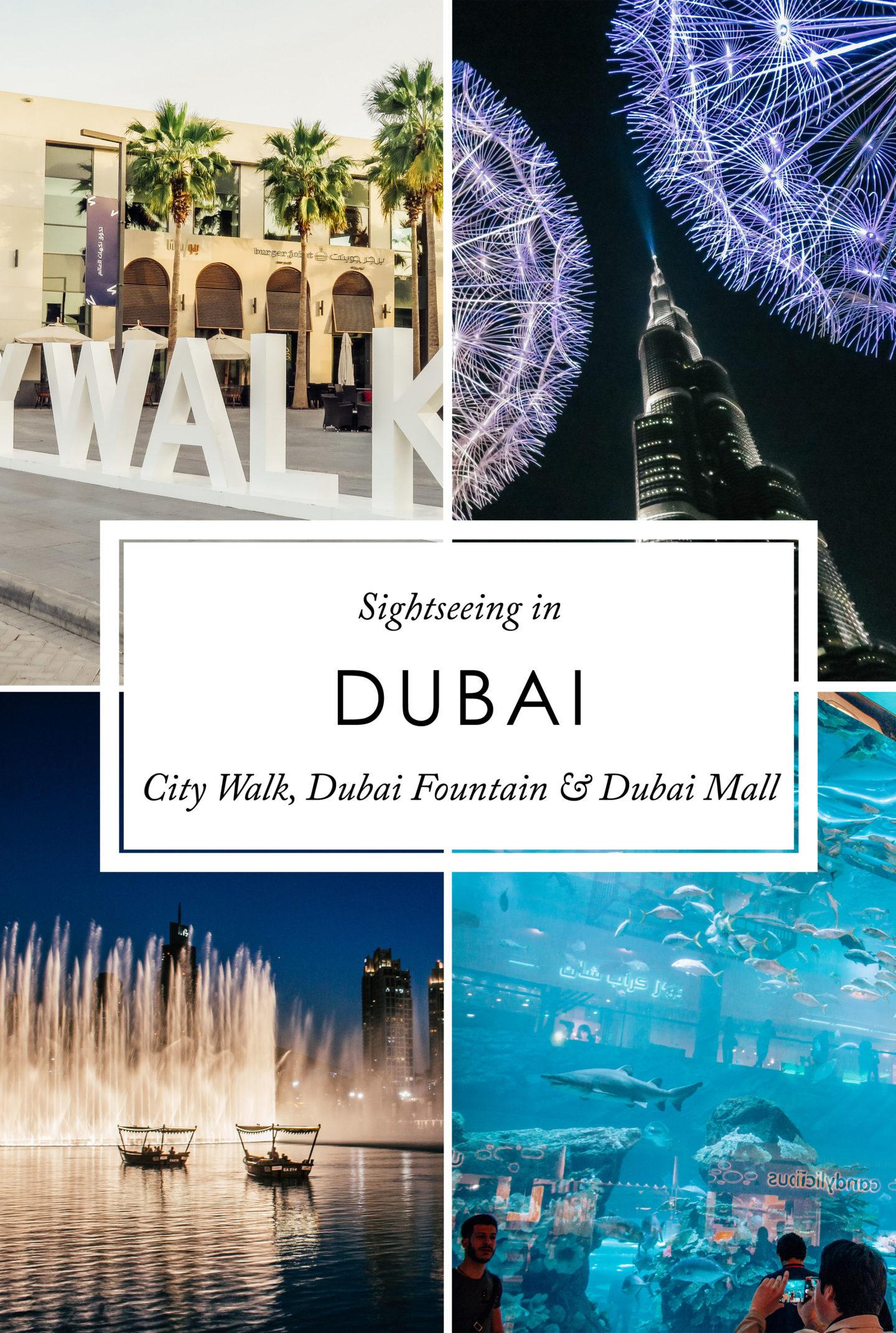 Orient Kreuzfahrt Sightseeing City Walk Dubai Fountain Dubai Mall