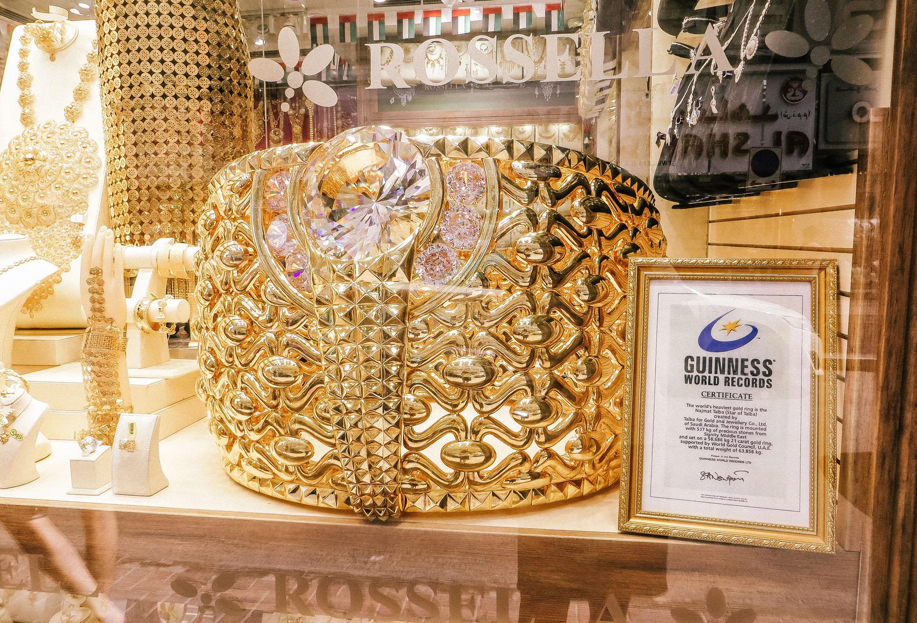 Orient Kreuzfahrt Dubai Gold Souk Ring
