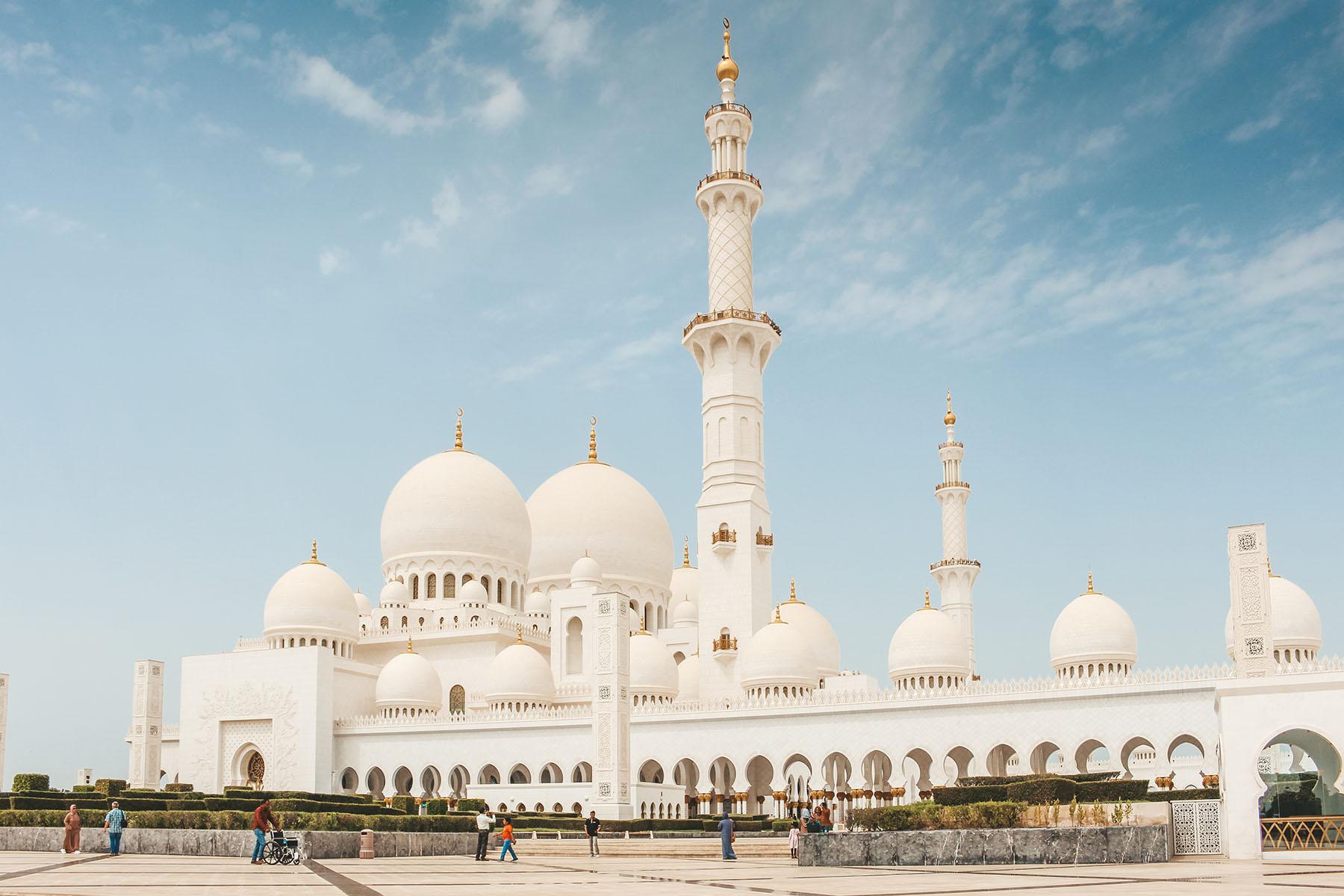 Orient Kreuzfahrt Abu Dhabi Scheich Zayid Moschee