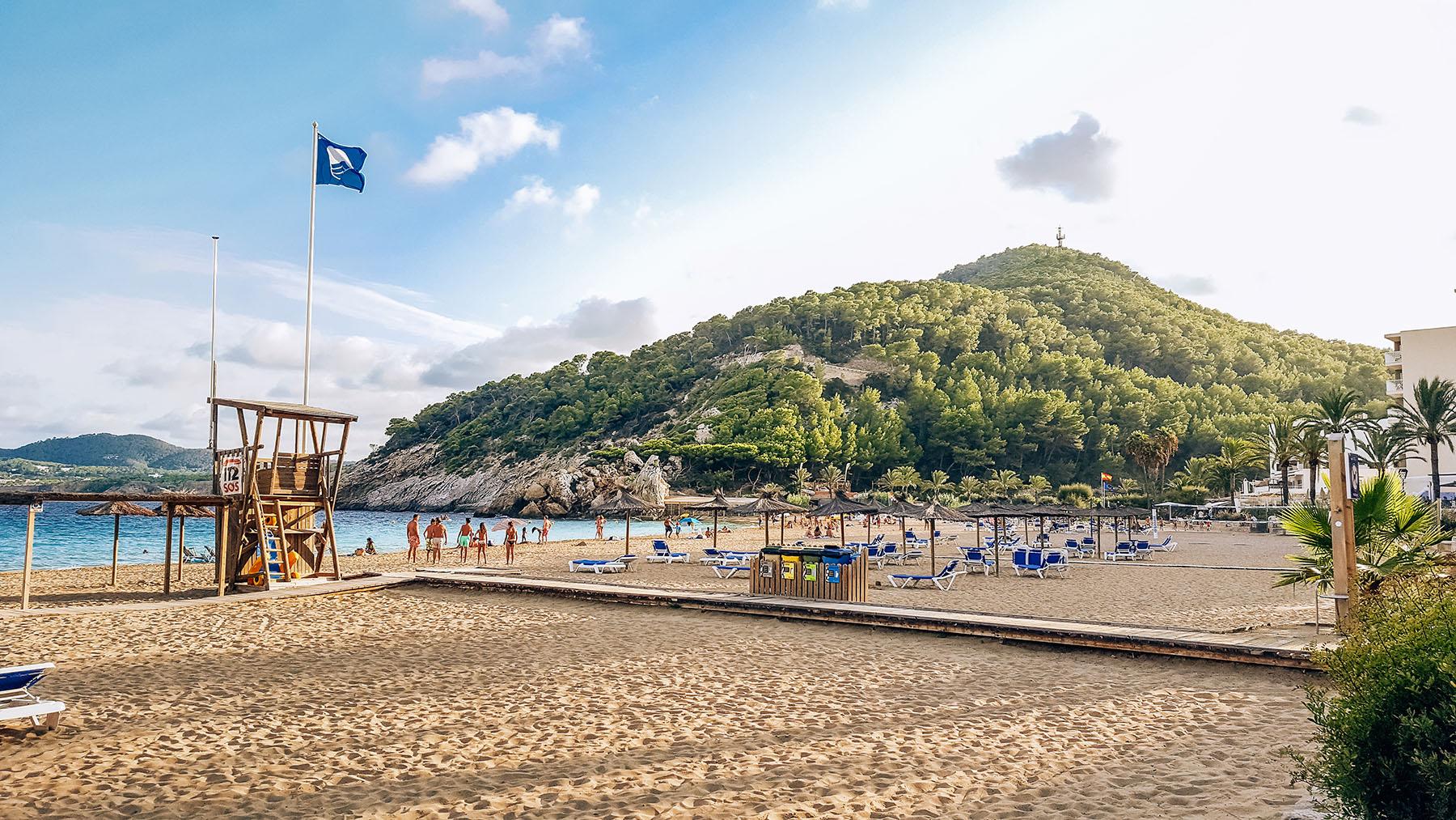 Cala Sant Vicent Ibiza Strand Sonnenuntergang