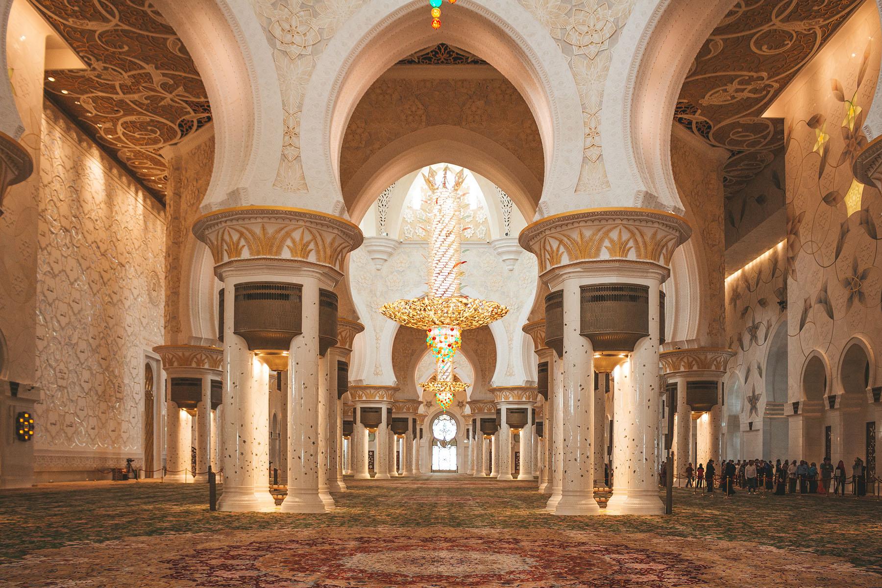 Orient Kreuzfahrt Abu Dhabi Scheich Zayid Moschee 10