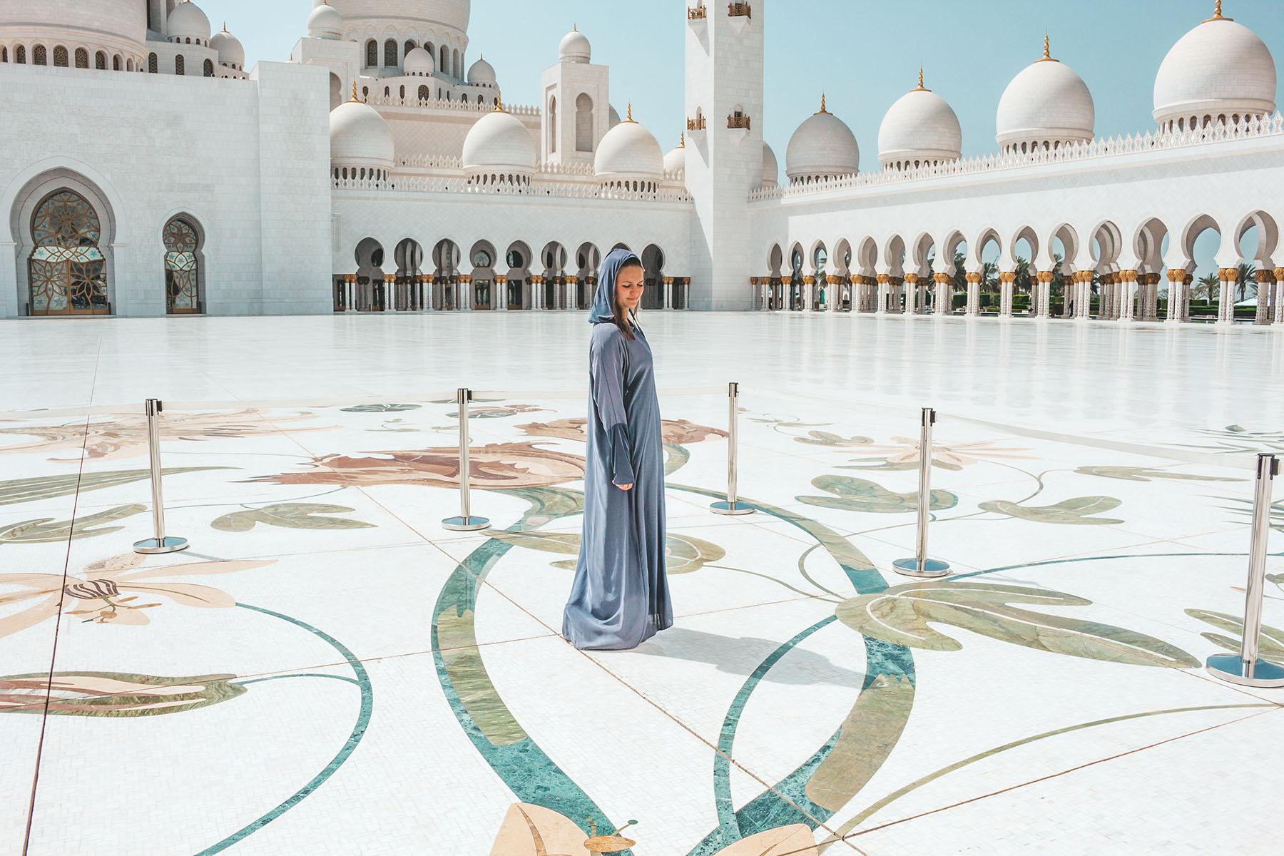 Orient Kreuzfahrt Abu Dhabi Scheich Zayid Moschee 2