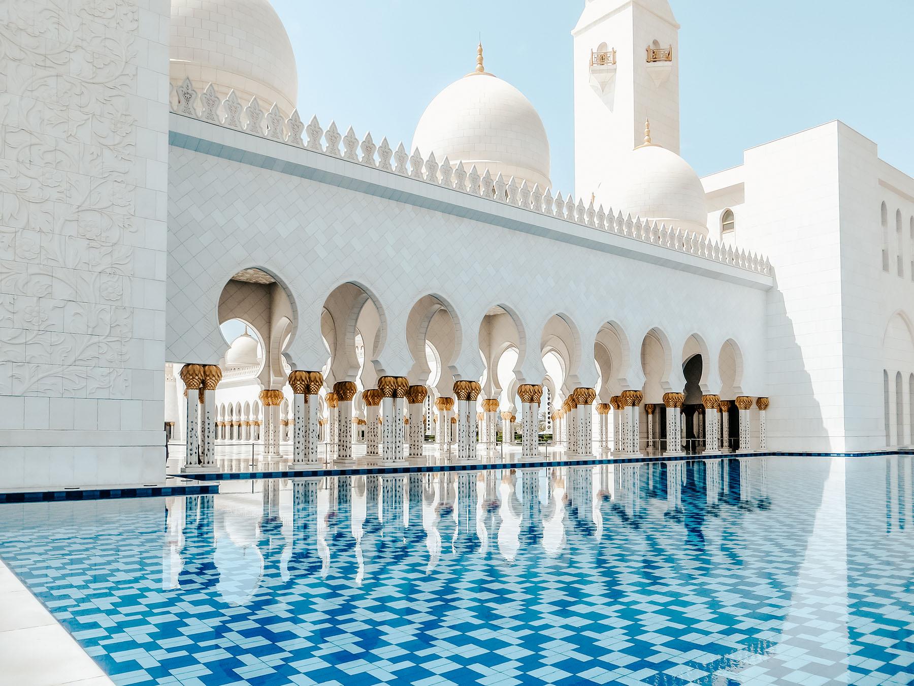 Orient Kreuzfahrt Abu Dhabi Scheich Zayid Moschee 3