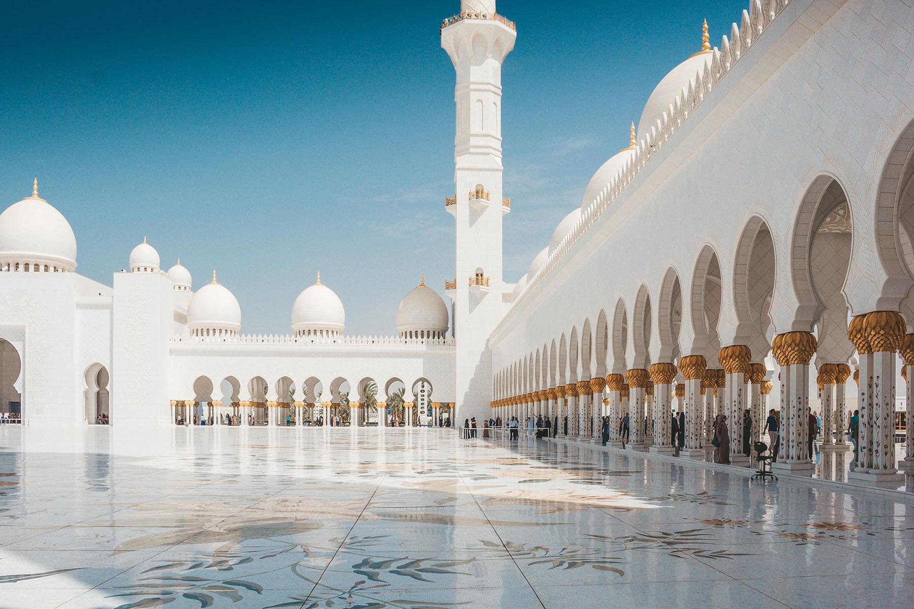 Orient Kreuzfahrt Abu Dhabi Scheich Zayid Moschee 5
