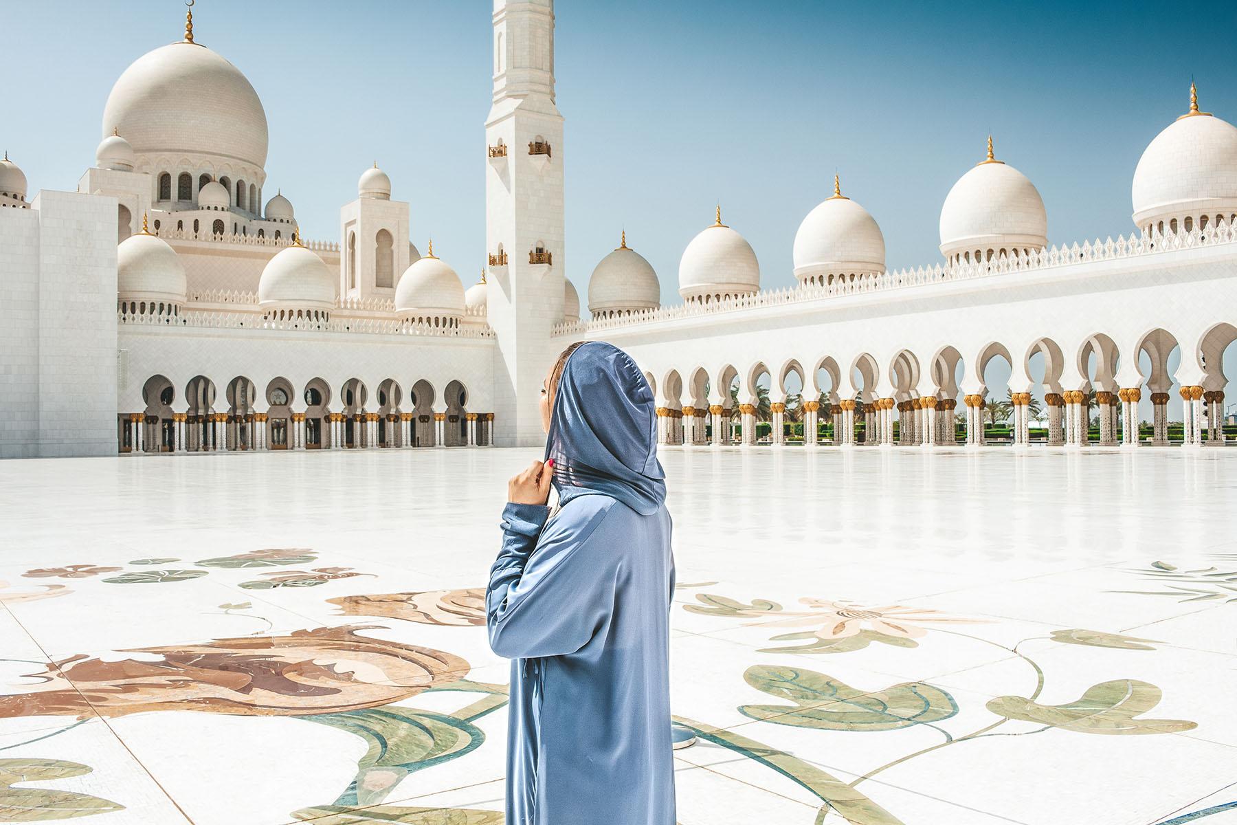 Orient Kreuzfahrt Abu Dhabi Scheich Zayid Moschee 6