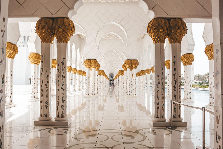 Orient Kreuzfahrt Abu Dhabi Scheich Zayid Moschee 9