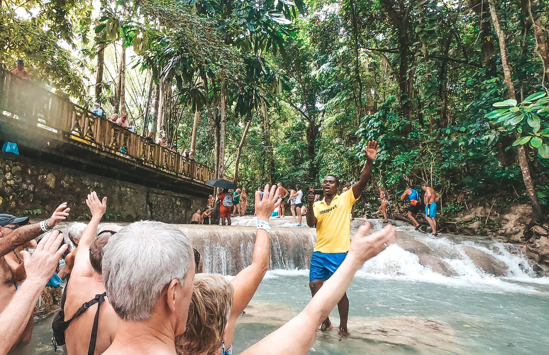 Mittelamerika Kreuzfahrt Jamaika Dunns River Falls