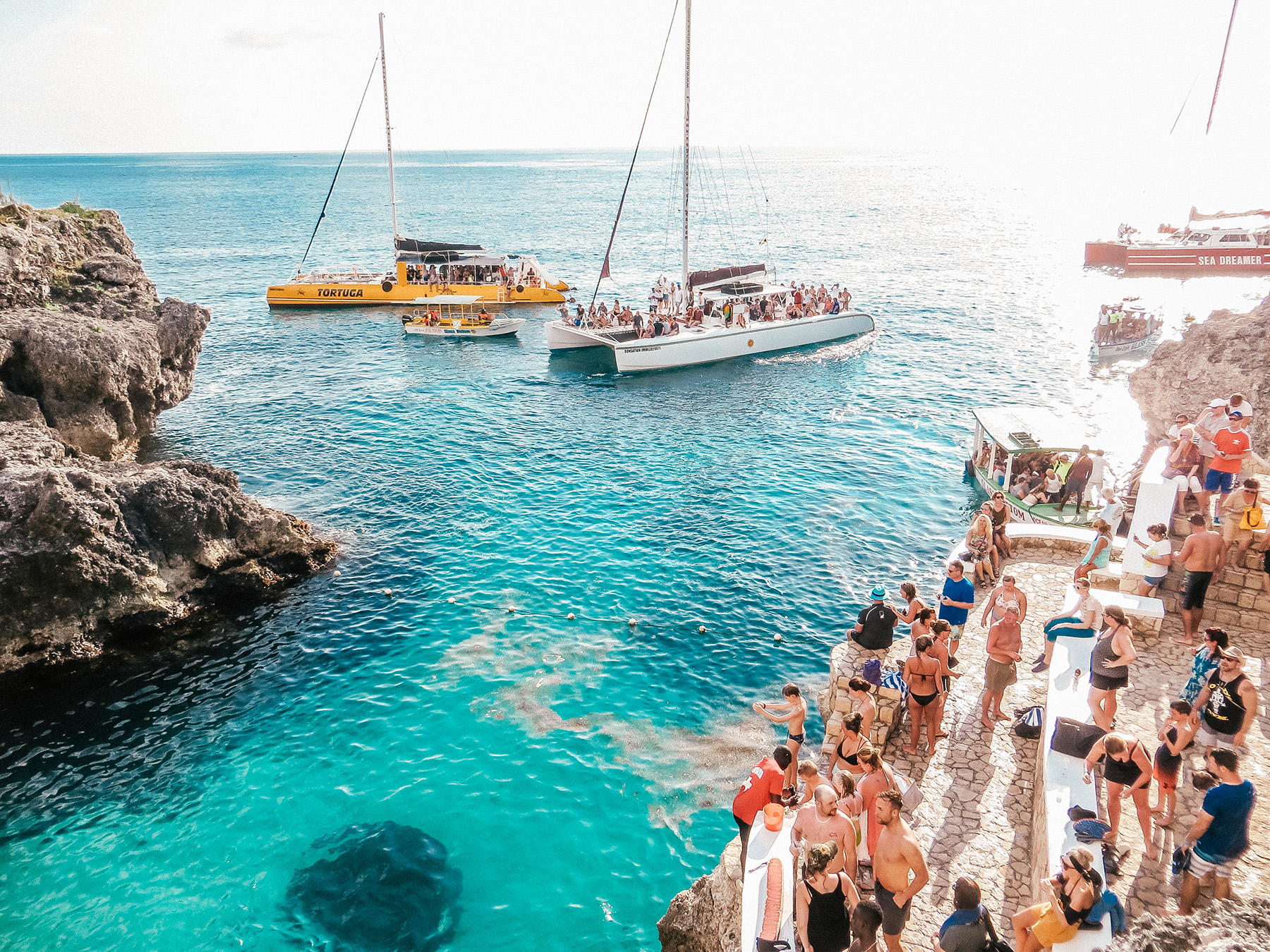 Ausflug Ricks Cafe Klippenspringen Negril Jamaika