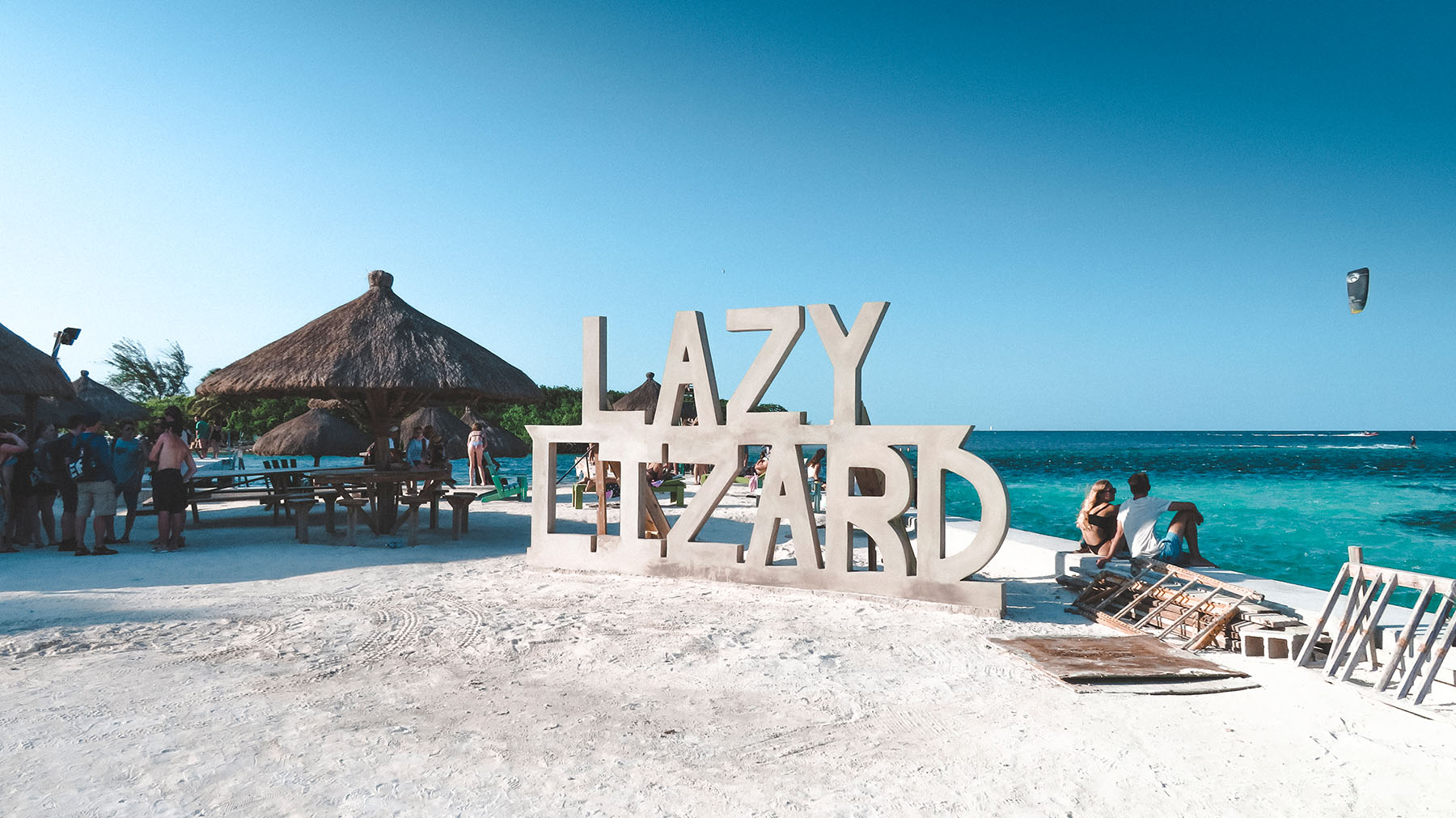 Belize Ausflug Caye Caulker Bar Lazy Lizard