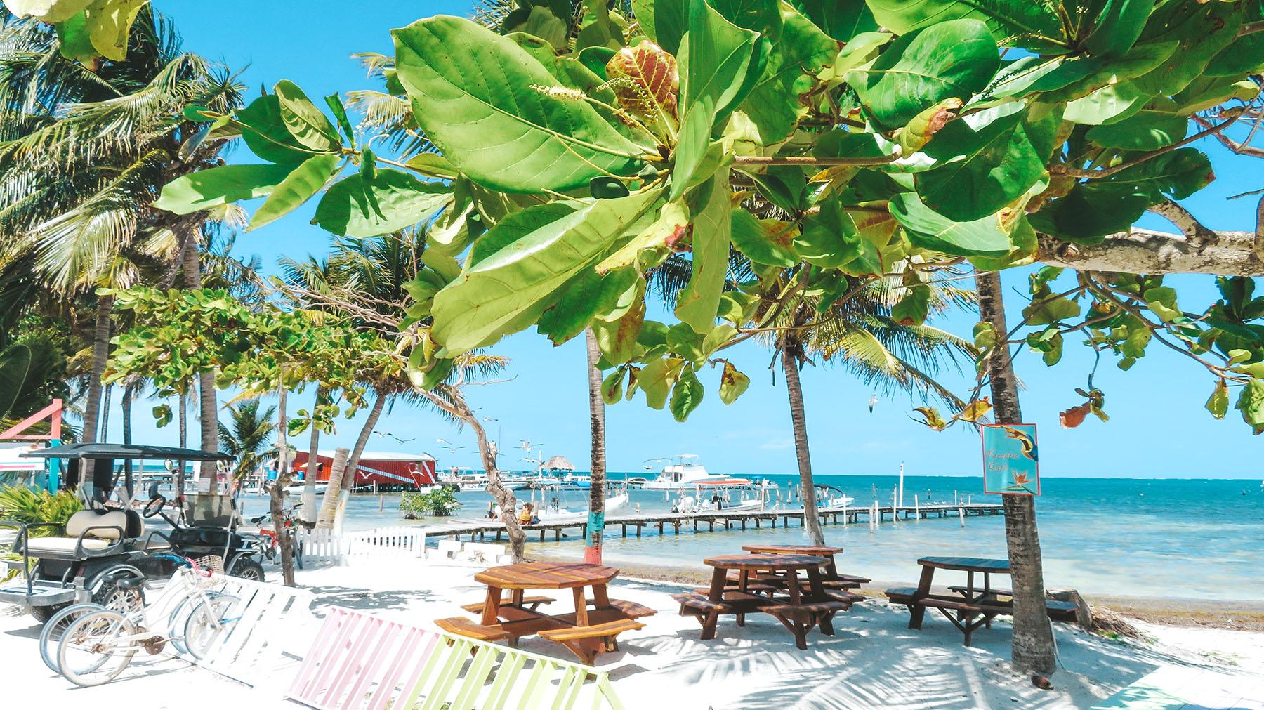 Belize Ausflug Caye Caulker Strand