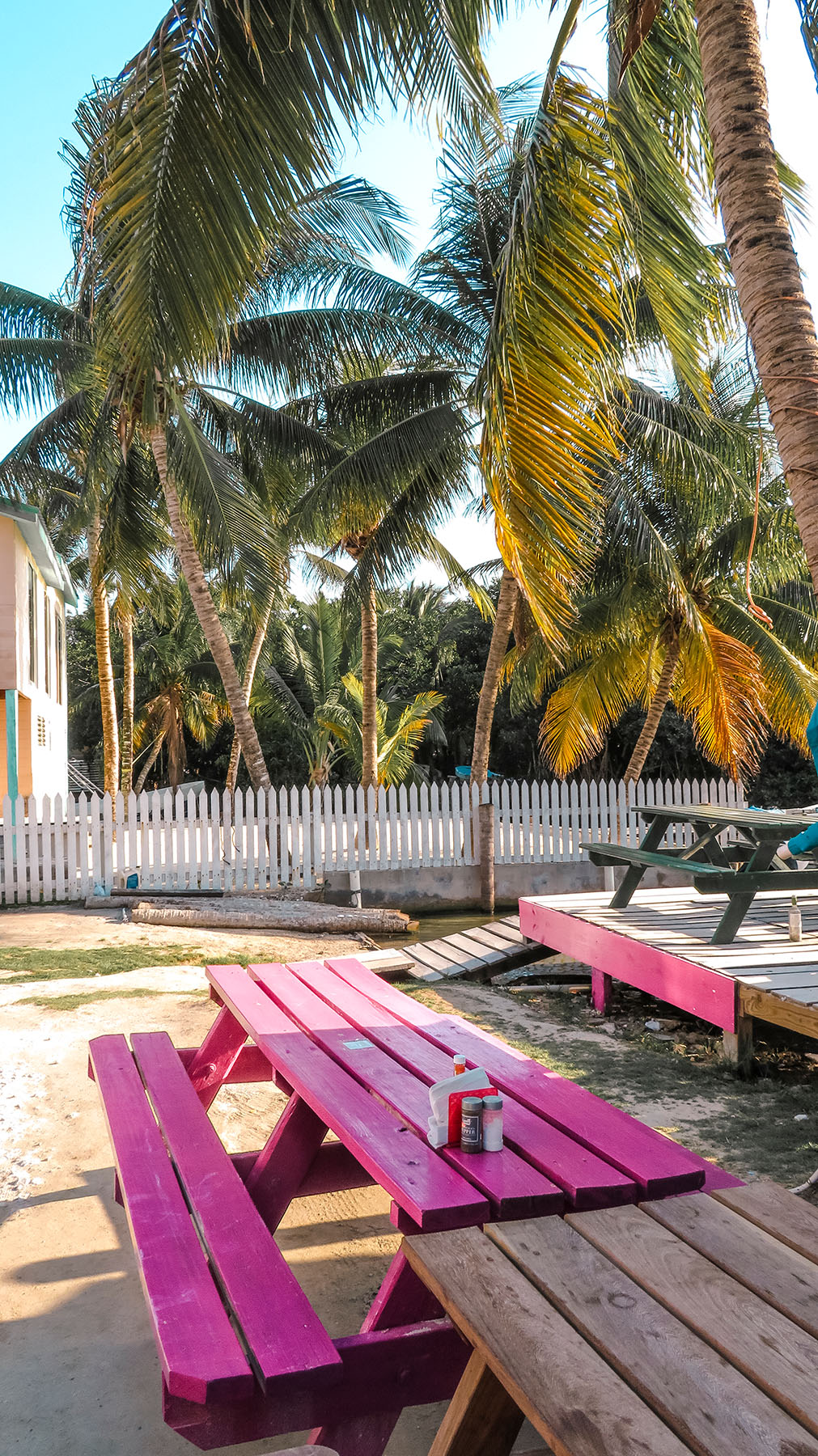 Belize Caye Caulker Insel pinke Bank