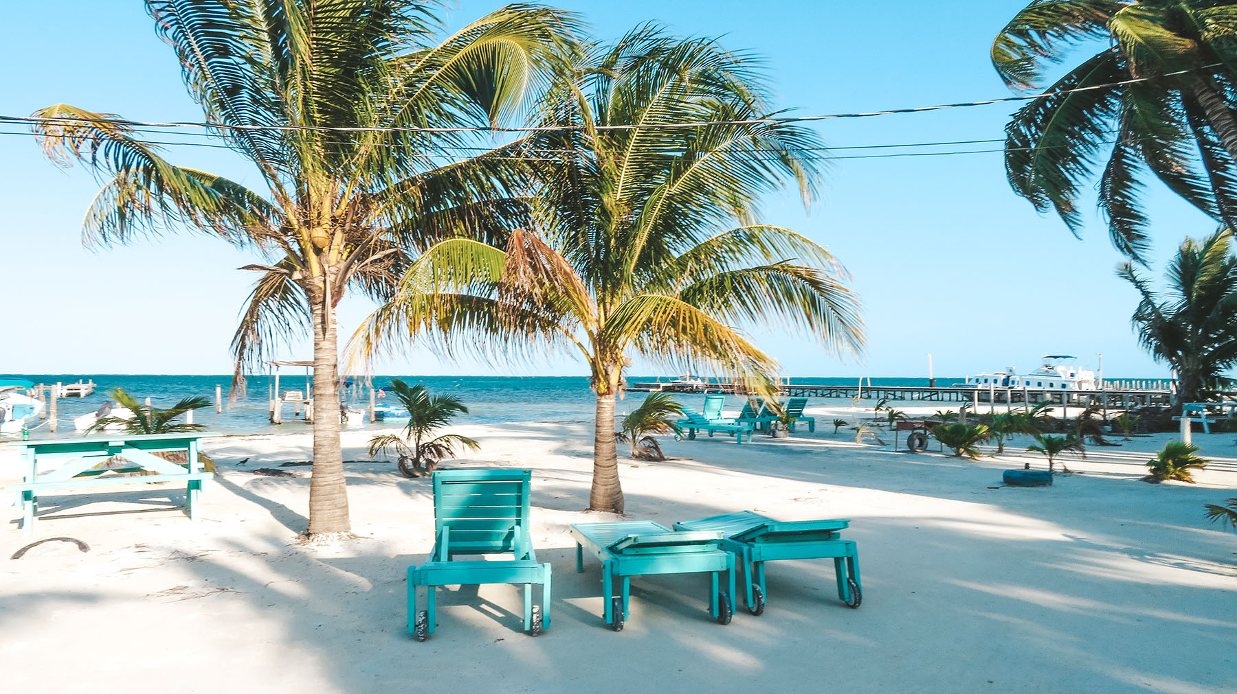 Mittelamerika Kreuzfahrt Belize Ausflug Caye Caulker Strand