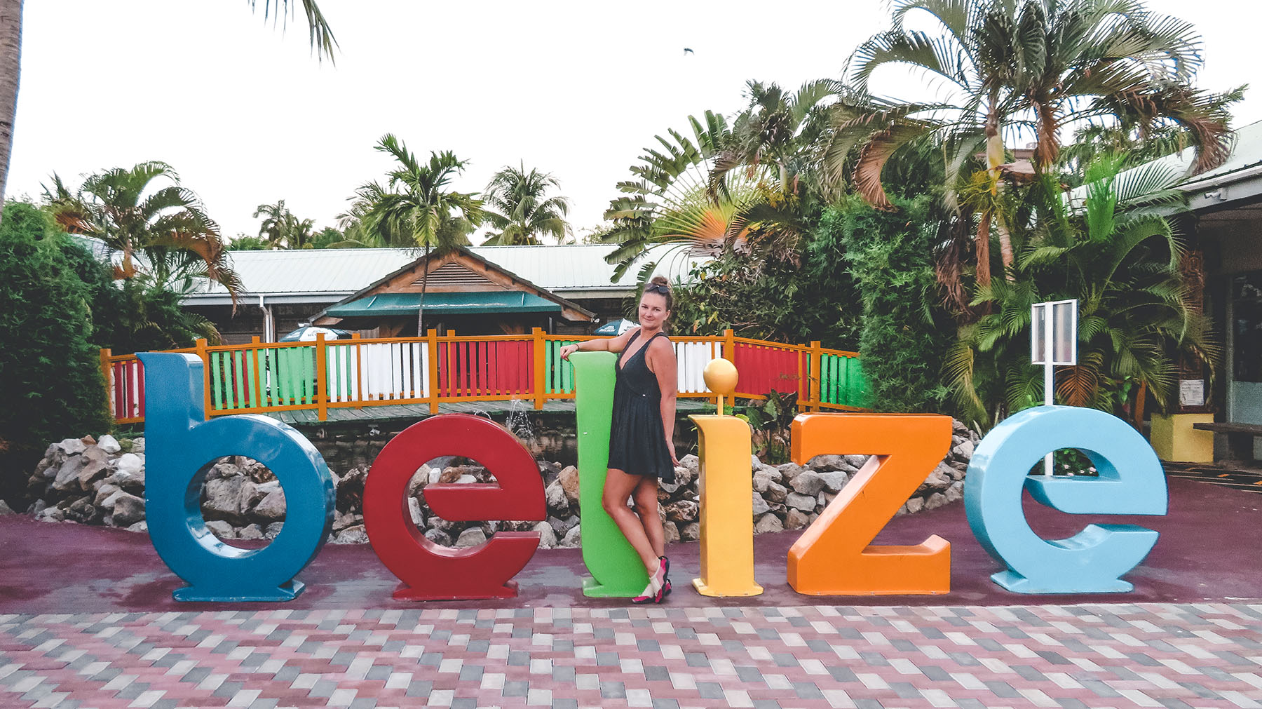 Mittelamerika Kreuzfahrt Belize Hafen Sign