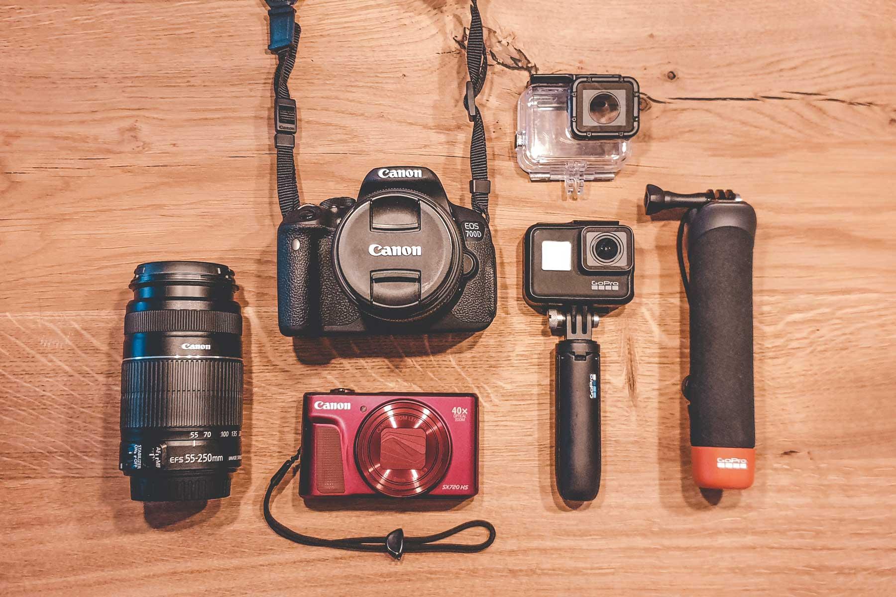 Fotoequipment auf Reisen: Meine Kameras Canon und Gopro