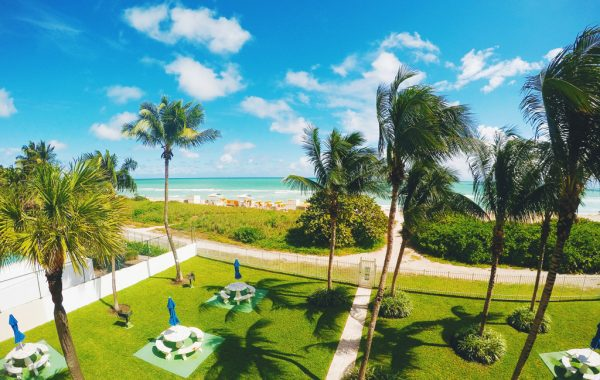 Ausblick vom Apartment auf den Miami Beach